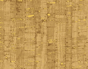 Windham Uncorked Cork Gold Metallic Brown Tan Natural Cork Fabric 50107M-06 BTY