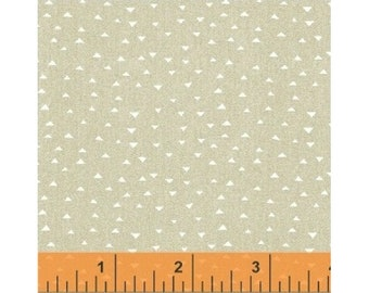 Windham Atlas Neutral Beige Tan Off White Triangle Cotton Fabric BTY 42300-4