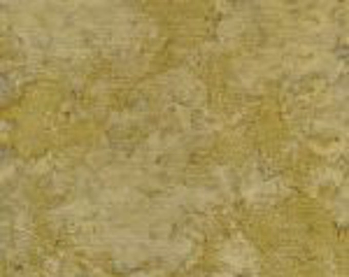 Batik Textiles Tonal Solid Blender Fabric Dark Yellow Tan Background 6052 BTY