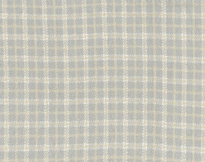 Marcus Primo Plaids Flannel Grey Gray Tan Off White Cream Cool and Calm Fabric  J364-0144 BTY