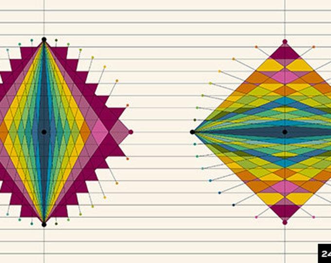 Andover Quantum Giucy Giuce Graphic Panel in Light Cream Quantum Moonstone 8955-L Fabric BTP