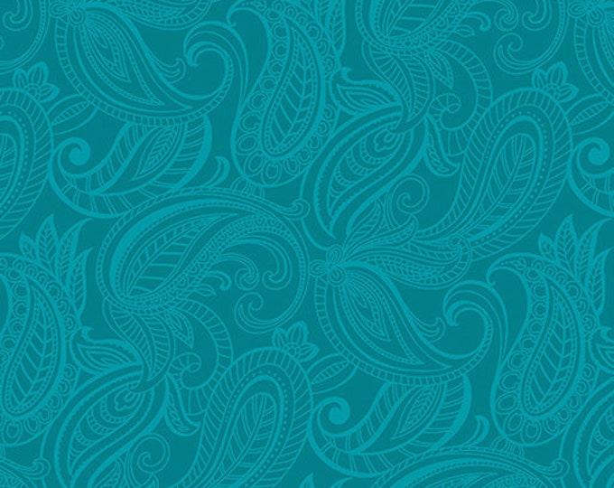 Benartex Lilyanne Collection Pais Lily Dark Teal 6725P-85 100% Cotton BTY