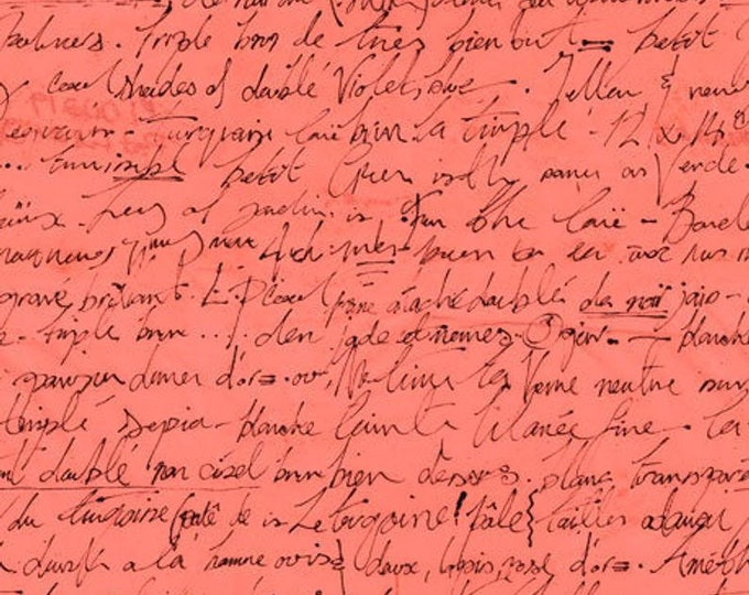 Quilting Treasures  Sweet Caroline Text Words Hand Writing  6992-c fabric 100% COTTON BTY