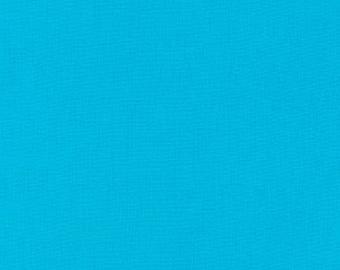 Robert Kaufman Kona Cotton Solids CYAN 151 Aqua Blue Fabric BTY