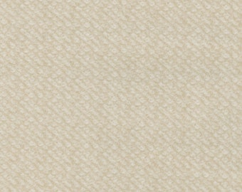 Maywood Woolies Cream Tan Ecru Nubby Tweed FLANNEL Fabric MASF-18505-E BTY