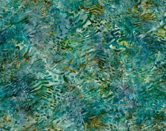 Mckenna Ryan Tiger Fish Peacock Blue Teal Green Gold Batik Fabric 15740-78 BTY