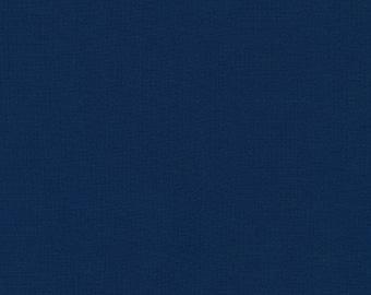 Robert Kaufman Kona Cotton Solids STORM 458 Dark Navy Blue Fabric BTY