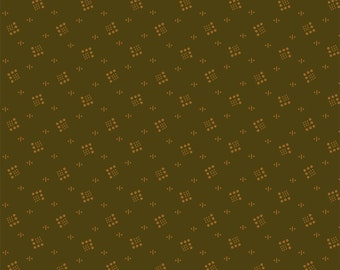 Windham Kindred Spirits Green Circle Square Civil War Reproduction 40212-4 Fabric 1.75 Y