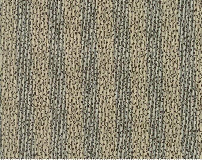 Moda Pumpkin Pie Prints LBQ Laundry Basket Quilts Beige Blue Stripe Branch Fabric BTY 42284-15