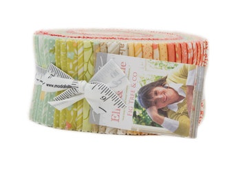 Moda Ella Ollie by Fig Tree Co Floral Shabby Chic Jelly Roll 2.5 Fabric Strips