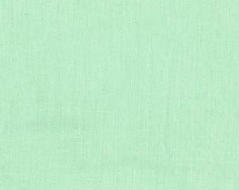 BeSpoke NATURAL Mint Solid Double Gauze Lightweight Cotton and Steel Fabric 31 Inches