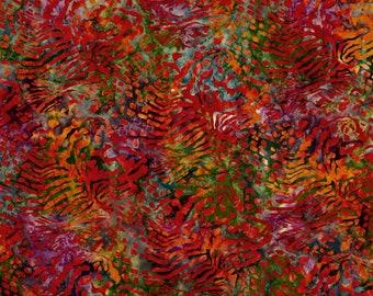 Mckenna Ryan Tiger Fish Sunset Orange Magenta Pink Purple Batik Fabric 15740-206 BTY