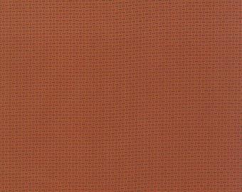 Moda Miniature Mini Primitive Gatherings Rust Tangerine Orange Civil War Fabric BTY 1156-16
