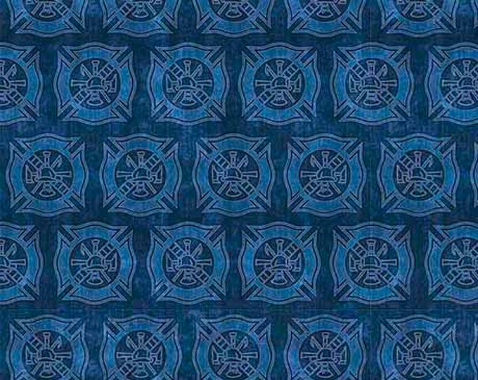 Quilting Treasures 5 Alarm Blue 1649-26297-b  Fabric BTY