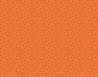Andover Pumpkin Spice by Renee Nanneman Orange Copper Cross Hatch Fabric 8262-O BTY
