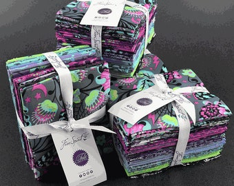 Tula Pink De La Luna 18 Fat Quarter Bat Skull Star FQ Bundle