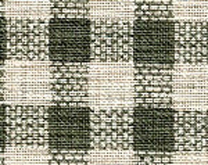 Windham Basics 27683-2 Cotton Fabric Green and Beige Checkered BTY