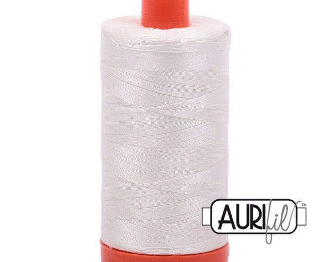 AURIFIL MAKO 50 Wt 1300m 1422y Color 6722 Sea Biscuit Off White Neutral Quilt Cotton Quilting Thread