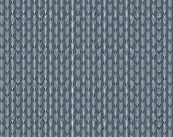 Riley Blake High Adventure Navy Blue Arrow Wheat by Dani Fabric C5555 BTY