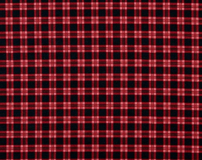 Patrick Lose fabrics red Plaid 0618 Fabric BTY