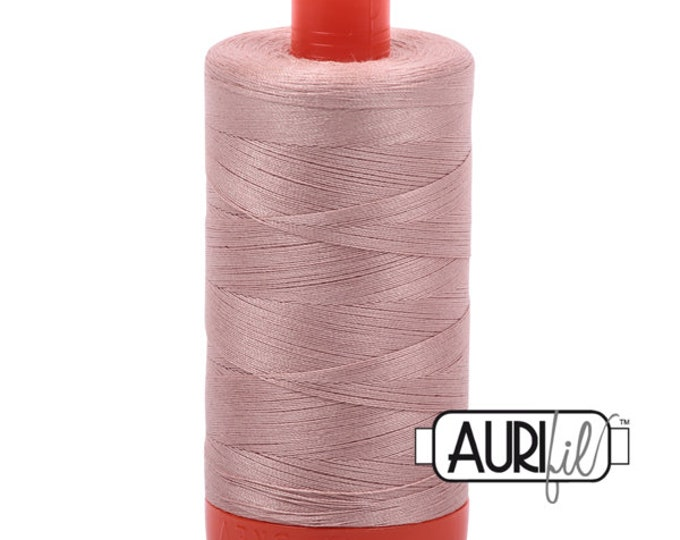 AURIFIL MAKO 50 Wt 1300m Color 2375 Jen Kingwell Gypsy Wife Blush Dusty Pink Quilt Cotton Quilting Thread
