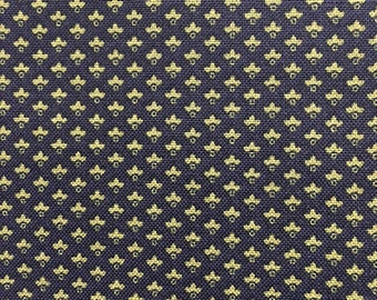 Windham Evelyn Floral Navy Blue Yellow Gold Civil War Reproduction Fabric 41988-1 BTY