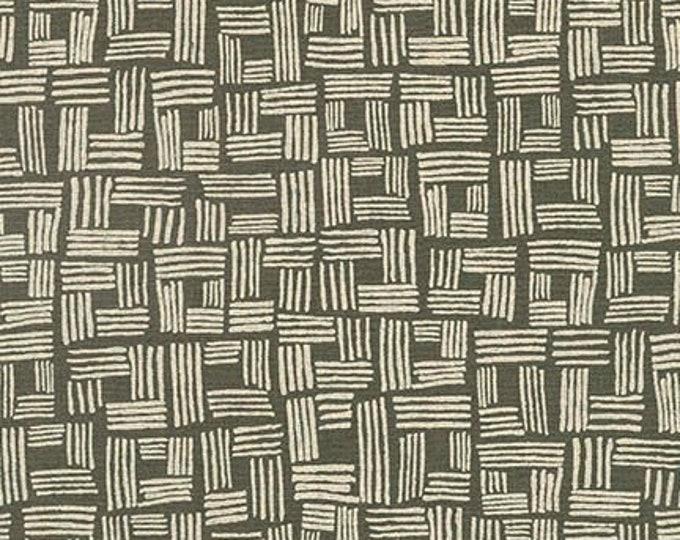 Kaufman Essex NoodleHead Forage Grey Gray Cotton Linen Blend Canvas Fabric 17983-188 BTY