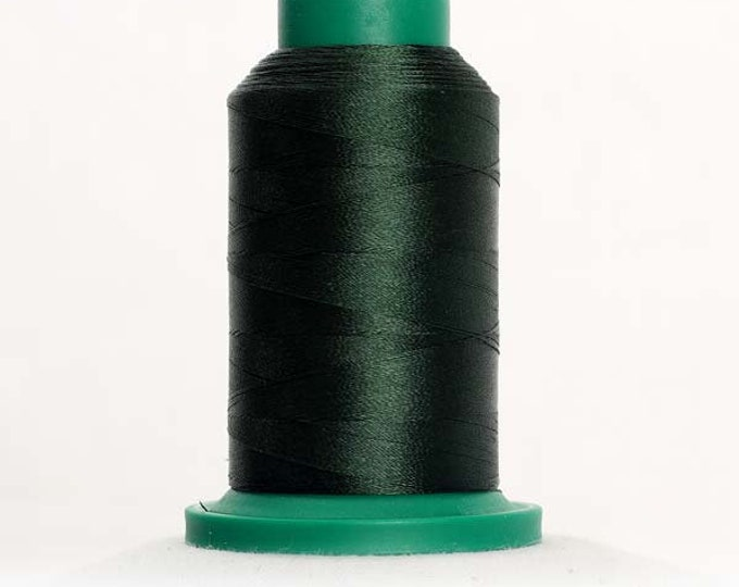 ISACORD Polyester Embroidery Thread Color 5555 Deep Green 1000m