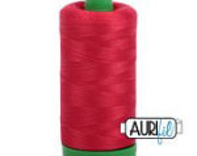 AURIFIL MAKO 40 Wt 1000m 1093y Color 2250 Red Quilt Cotton Quilting Thread