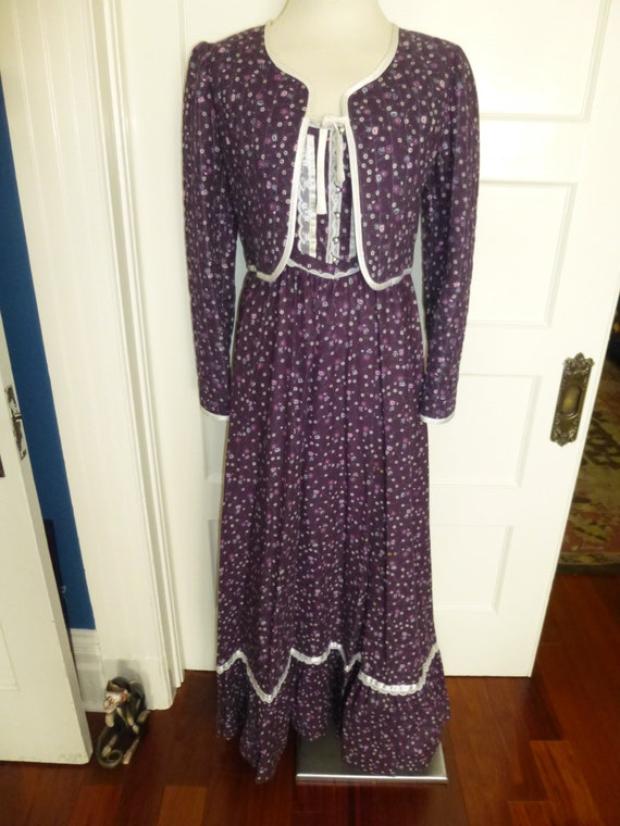Gorgeous Gunne Sax Sun Dress with Matching Jacket