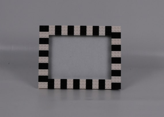 Black And White Checkered Flag 5x7 Picture Frame Made With Etsy