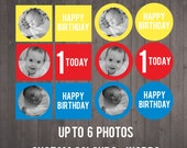 PRINTABLE Photo Cupcake Toppers - Your photos turned into cupcake toppers