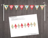 Circus Cake Topper Garland - PRINTABLE  Circus Cake Topper Flags - INSTANT DOWNLOAD