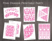 Pink Damask Party - Print...