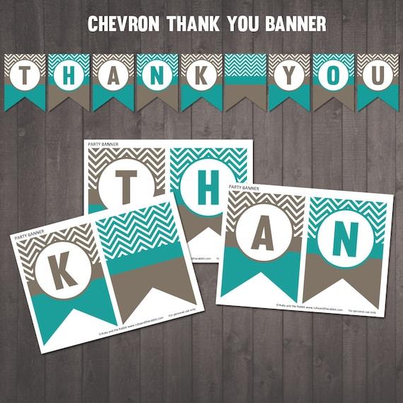photo regarding Thank You Banner Printable named PRINTABLE \