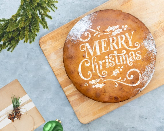 Personalised Christmas Bauble Cake Stencil