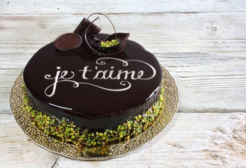 Je T Aime Cake Stencil Cake Round Stencil For Cake Etsy