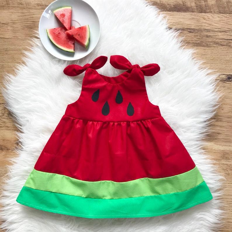 41d1716c0c08 Baby watermelon dress | Etsy
