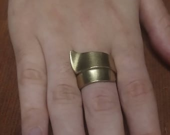 Forged Brass Ring - (Size 2)