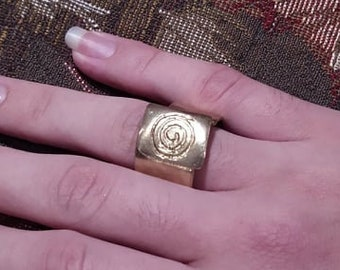 Forged Brass Ring - (Size 4)