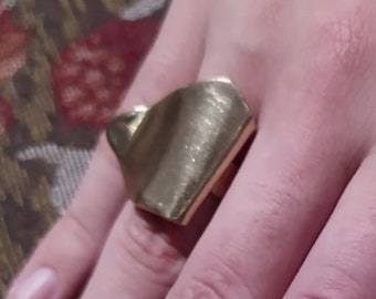 Forged Brass Ring - (Size 6)