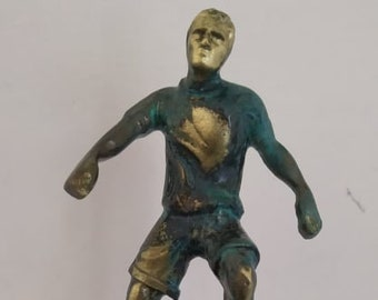 Bronze Handmade Football player - Oxidised