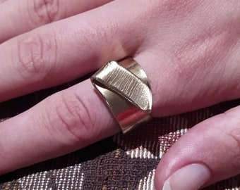 Forged Brass Ring - (Size 7)