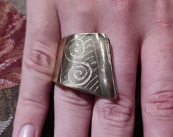 Forged Brass Ring - (Size 5)