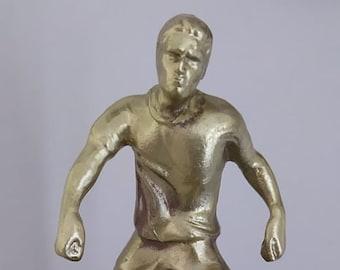 Bronze Handmade Football player on Marble Base
