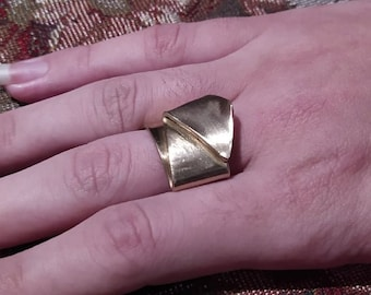 Forged Brass Ring - (Size 3)
