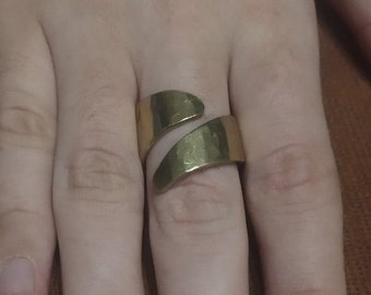 Forged Brass Ring - (Size 1)