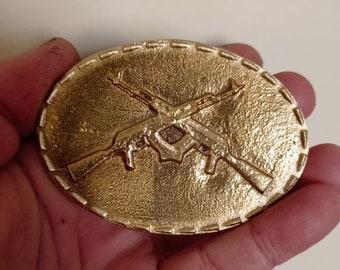 Bronze Handmade AK-47 Shaped Belt Buckle
