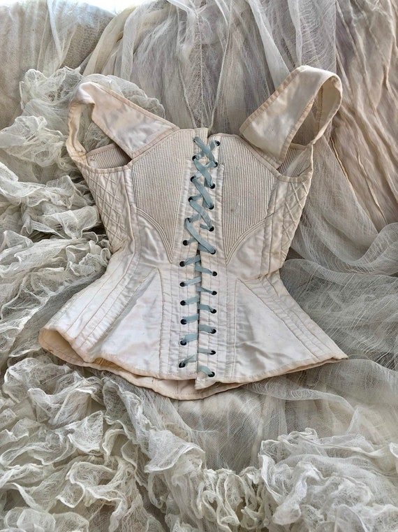 ON LAYAWAY RARE Authentic Antique 1840's Corset /