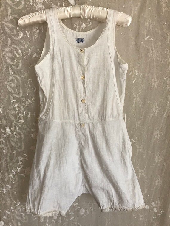 Rare Antique Childs Pajamas / Cotton Onesie / Todd